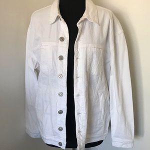 Hudson Emmet Boyfriend White Denim Jacket